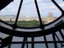 Looking through the clock at Musee d'Orsay, Paris